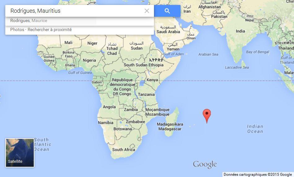 Map Rodrigues