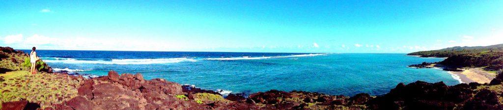 Lors d'une randonnée sur la côte Est de Rodrigues