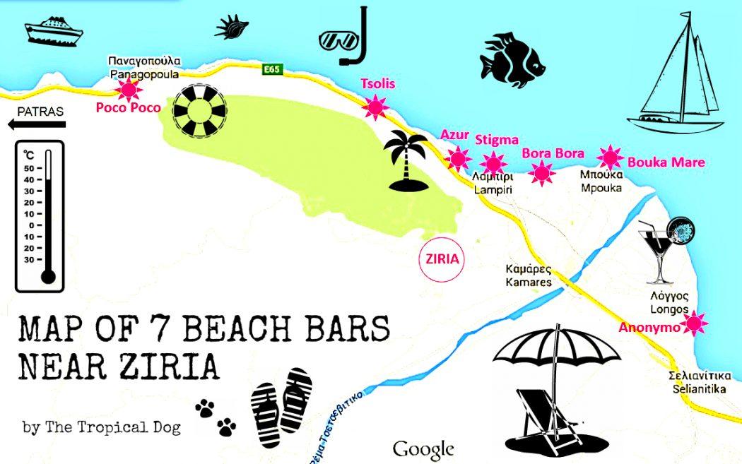 Beach bars near Ziria