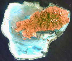 Satellite view of Rodrigues island © Google Maps 2015