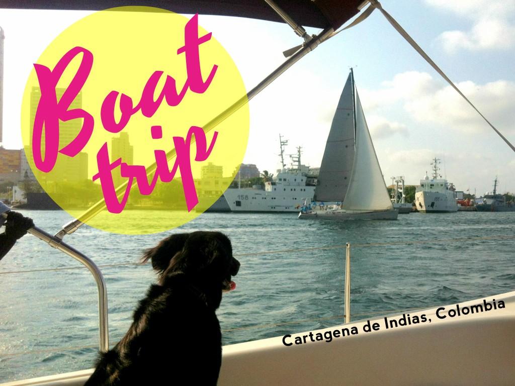 Boat trip in Cartagena, Colombia