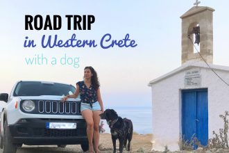 road trip in Western Crete with a dog