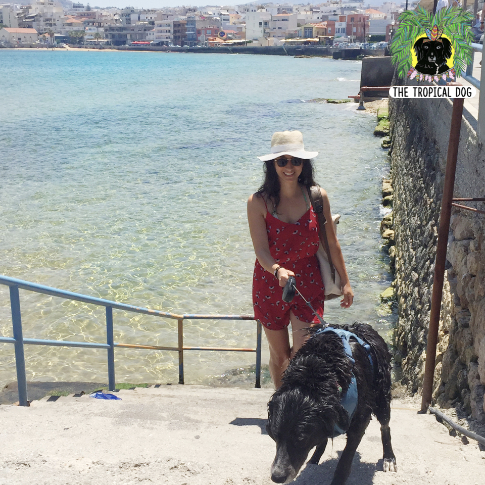 Chania with a dog